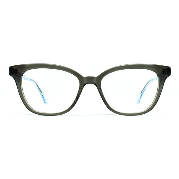 Masunaga - 069 - 24 - Grey/AquaBlue - Cateye - Rectangular - Eyeglasses