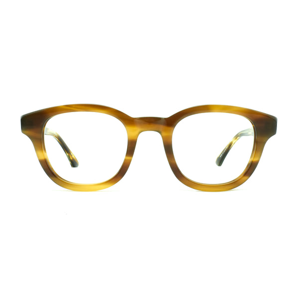 Masunaga - 071 - 13 - Brown - Round - Rectangle - Plastic - Zyl - Eyeglasses - Hicks Brunson Eyewear