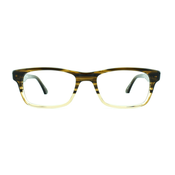 Masunaga - 075 - 13 - Brown Fade - Rectangle - Eyeglasses - Hicks Brunson Eyewear