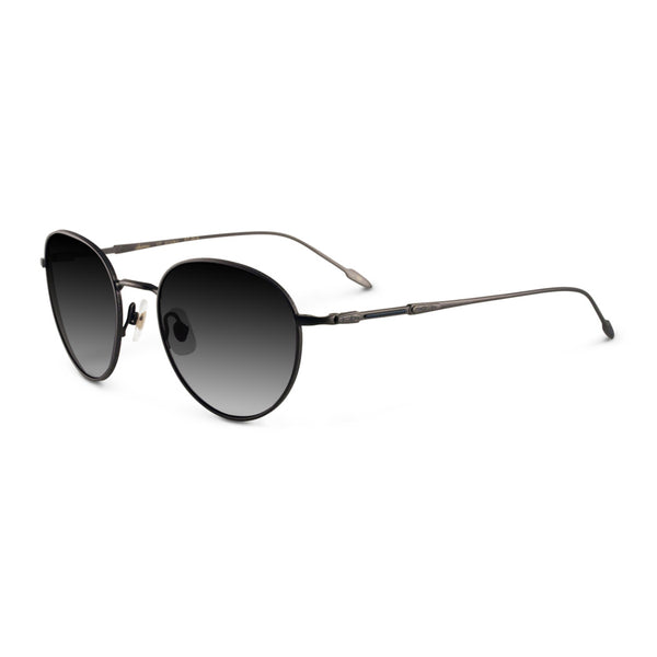 Sama - 12 Grams - AT BLK - Antique Black - Round - Titanium - Sunglasses