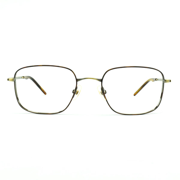 Sama - 1700 - ATG - Havana / Antique Gold - Rectangular - Titanium - Eyeglasses