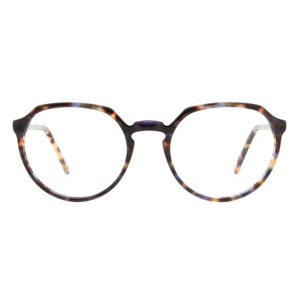 Andy Wolf - 4552 - F - Blue Tortoise - Round - Eyeglasses - Hicks Brunson Eyewear