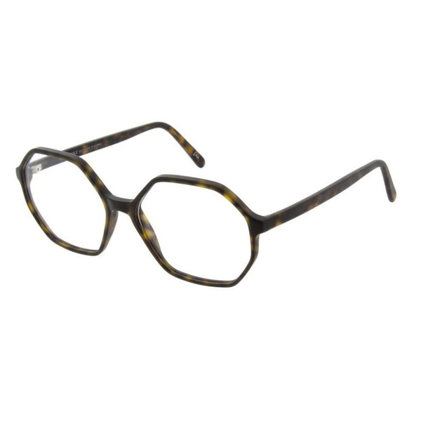 Andy Wolf - 4580 - B - Matte Tortoise - Hexagonal - Eyeglasses - Hicks Brunson Eyewear