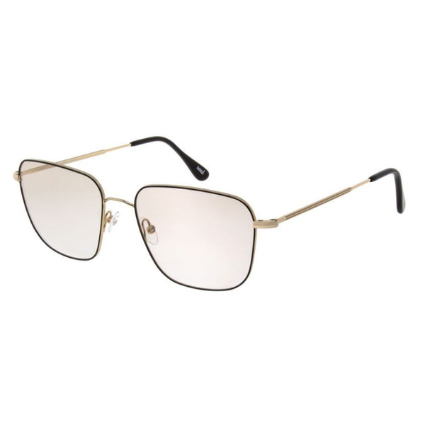 Andy Wolf - 4742 - E - Black / Gold - Rectangle - Metal - Eyeglasses - Hicks Brunson Eyewear