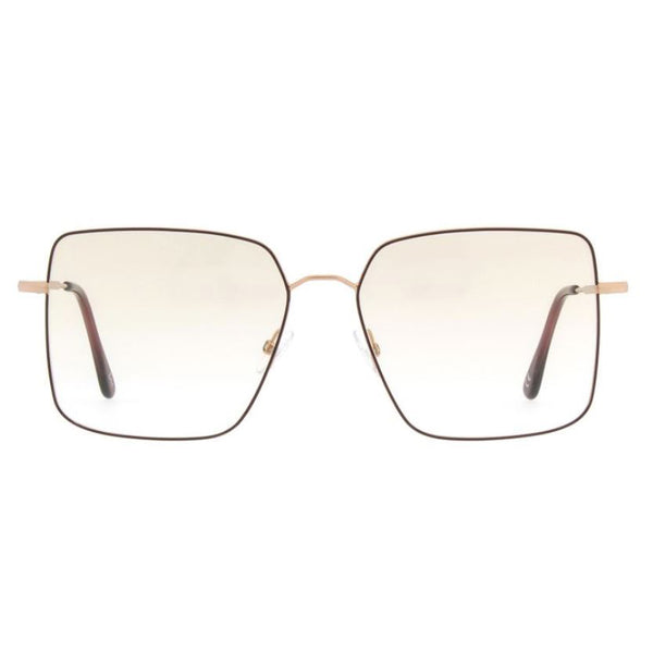Andy Wolf - 4746 - E - Red / Gold - Rectangle - Metal - Eyeglasses - Hicks Brunson Eyewear