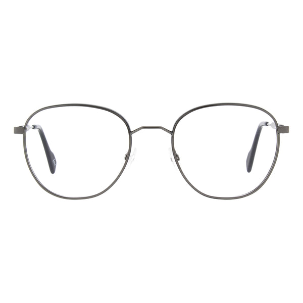 Andy Wolf - 5759 - E - Silver / Black - Round - Metal - Eyeglasses - Hicks Brunson Eyewear
