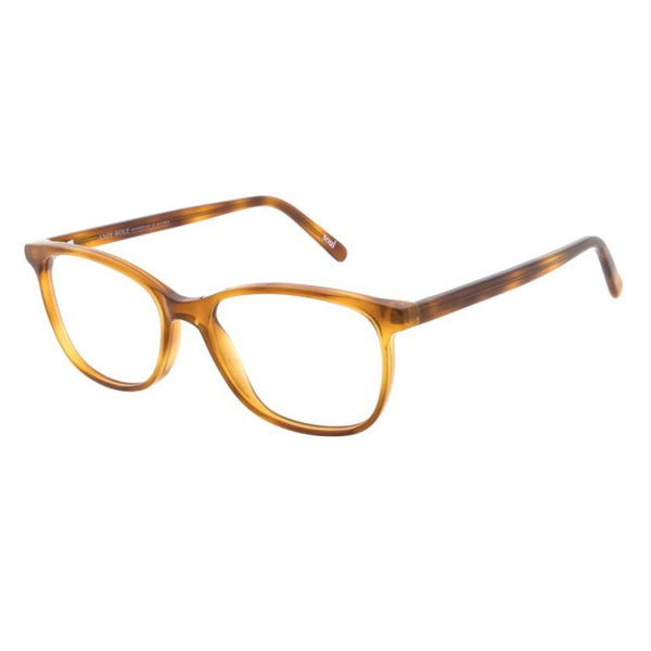 Andy Wolf - 5080 - Q - Light Brown - Rectangular - Cateye - Eyeglasses - Hicks Brunson Eyewear