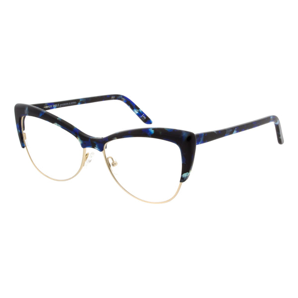 Andy Wolf - 5082 - D - Blue Tortoise / Gold - Cateye - Eyeglasses