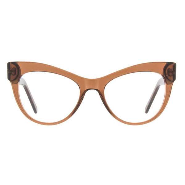 Andy Wolf - 5086 - J - Brown - Cateye - Eyeglasses - Hicks Brunson Eyewear