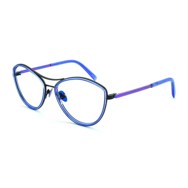 Tom Davies - LE - 84458 - Phantom Purple / Black - Eyeglasses - Hicks Brunson Eyewear