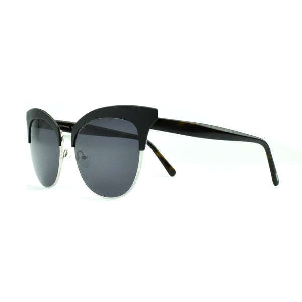 Tom Davies - TD LE - 85723 - Black/Silver - Sunglasses - Cat-eye