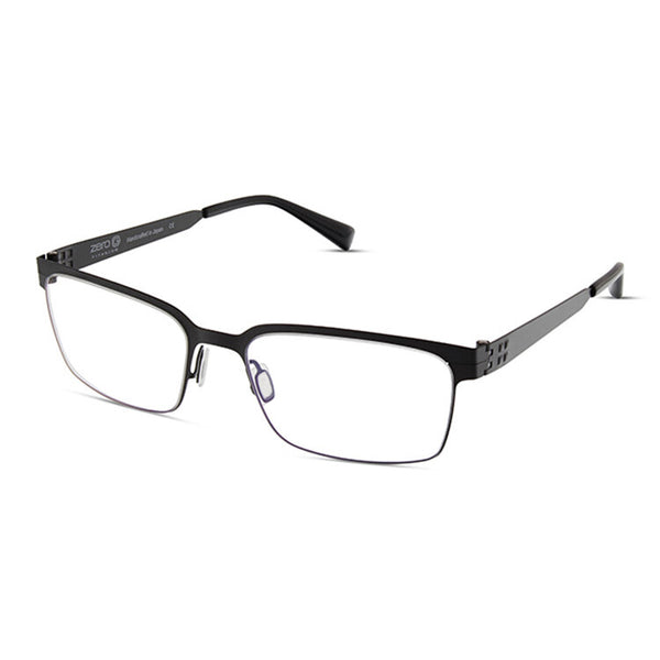Zero G - Armonk - Black - Rectangle - Titanium - Eyeglasses - Hicks Brunson Eyewear