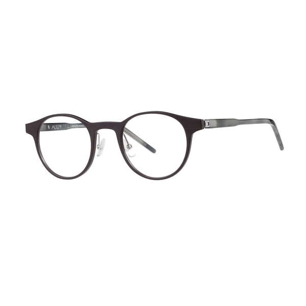 Face A Face - Alium 180 3 - TM12 - Matte Black / Smoke Grey - Round - Metal - Aluminum - Eyeglasses