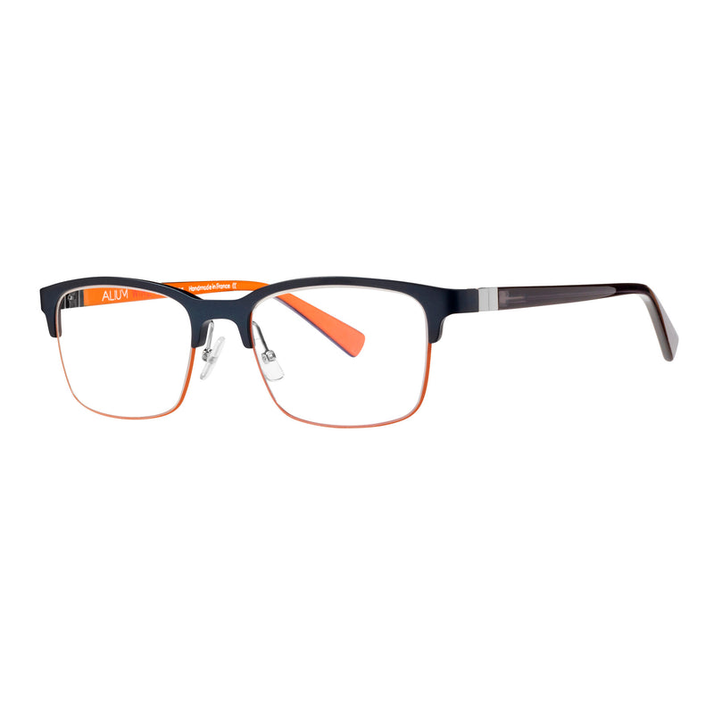 Face A Face - Alium Wire 4 - 959 - Navy / Orange / Black - Rectangle - Aluminum - Eyeglasses