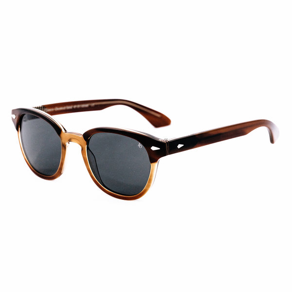 American Optical - Times - Chestnut Sand - Browline - Rectangle - Sunglasses - Hicks Brunson Eyewear