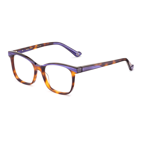 Etnia Barcelona - Aprilia - 2HVPU - Havana / Purple - Rectangle - Cateye - Eyeglasses - Hicks Brunson Eyewear