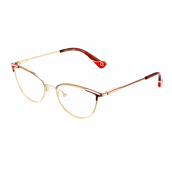 Etnia Barcelona - Auxonne - GDRD - Gold / Red - Cateye - Metal - Eyeglasses