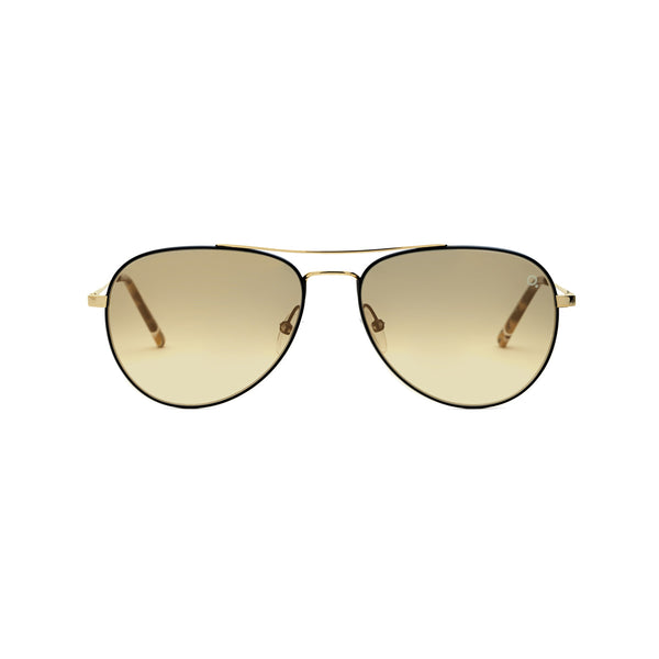 Etnia Barcelona - Brera Sun - GDBK - Gold/Black - Mirrored Lenses - Aviator Sunglasses - Vintage Collection Sunglasses