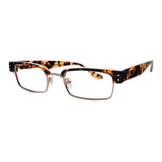 Scojo - Barclay St. - Rootbeer Tort / Gold - Rectangle - Reading Glasses - Readers