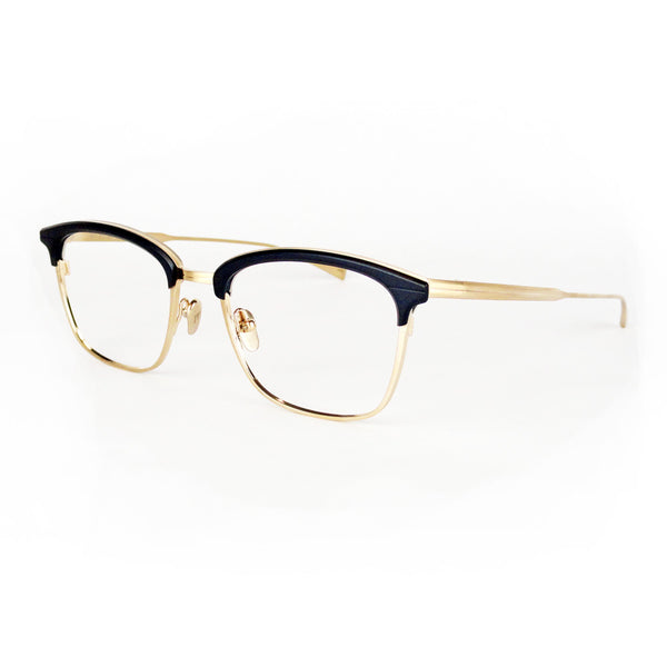 Masunaga - Basie - Navy/Gold - 35 - Eyeglasses - Hicks Brunson Eyewear