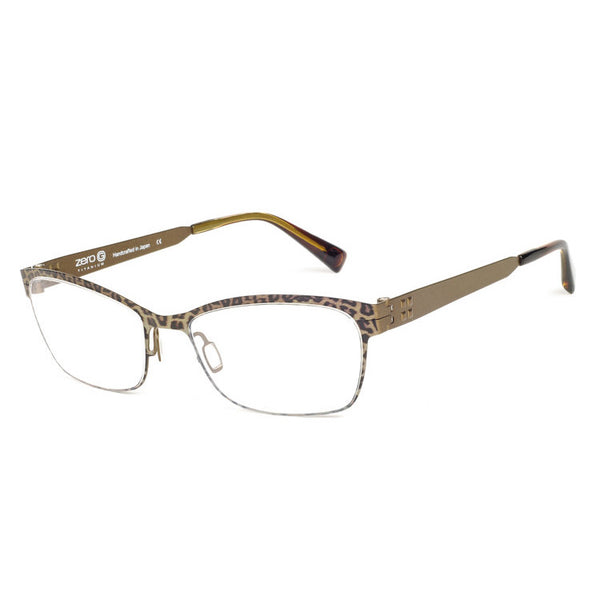 Zero G - Bethpage - Leopard Brown - Titanium - Eyeglasses - Hicks Brunson Eyewear