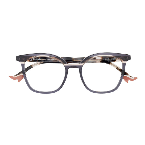 Face A Face - Bocca 20's - 203 - Smoke / Pearl Tortoise - Rectangle - Cateye - Eyeglasses - Hicks Brunson Eyewear