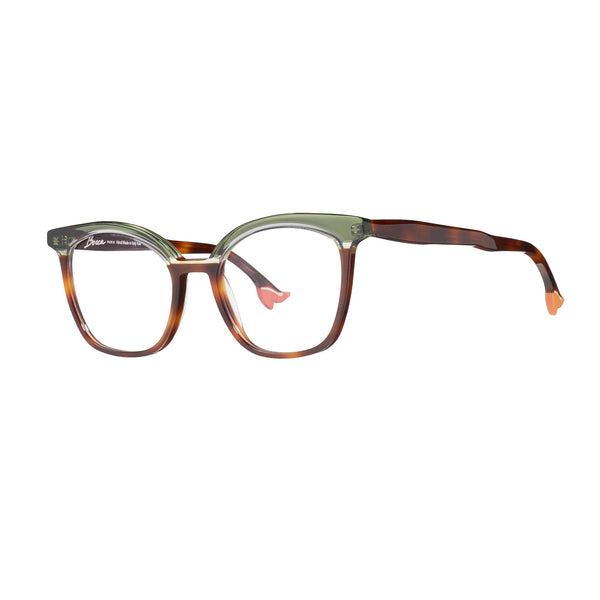 Face A Face - Bocca 20's - 238 - Green / Brown - Rectangle - Cateye - Eyeglasses - Hicks Brunson Eyewear