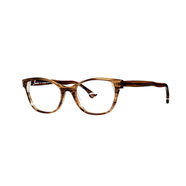 Face A Face - Bocca Lemon 2 - 1806 - Brown Crystal / Ivory - Cateye - Eyeglasses