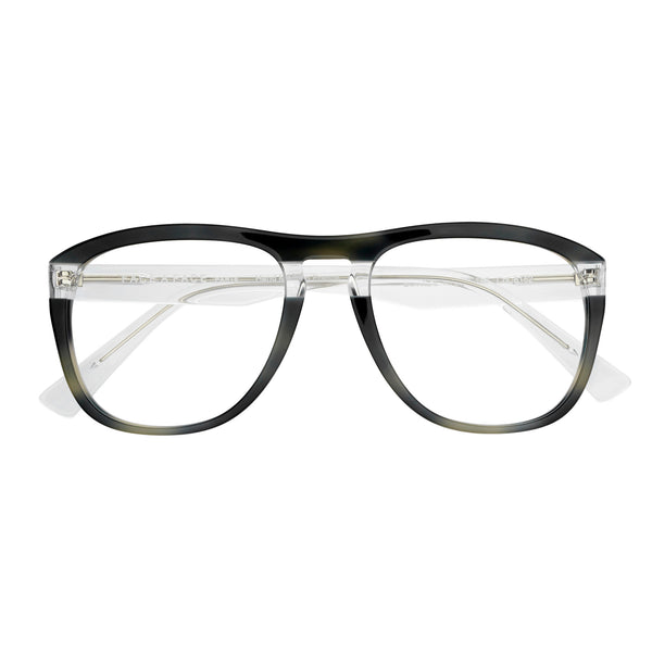 Face A Face - Bowie 2 - 6152 - Grey Tort / Crystal - Navigator - Rectangular - Eyeglasses - Hicks Brunson Eyewear