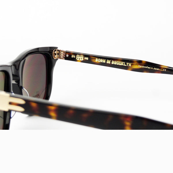 Born In Brooklyn - Bushwick - Black-Gold - Polarized Sunglasses - Hicks Brunson Eyewear