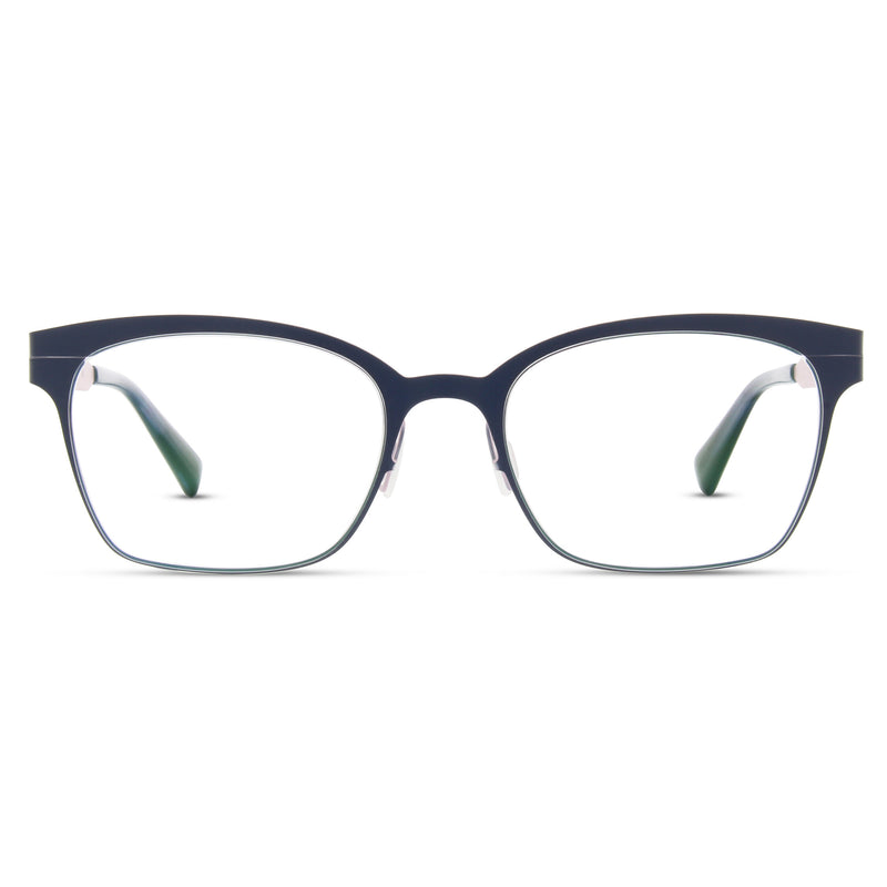 Zero G - Carle Place - Navy / Ballet Slipper - Cateye - Titanium - Eyeglasses - Hicks Brunson Eyewear