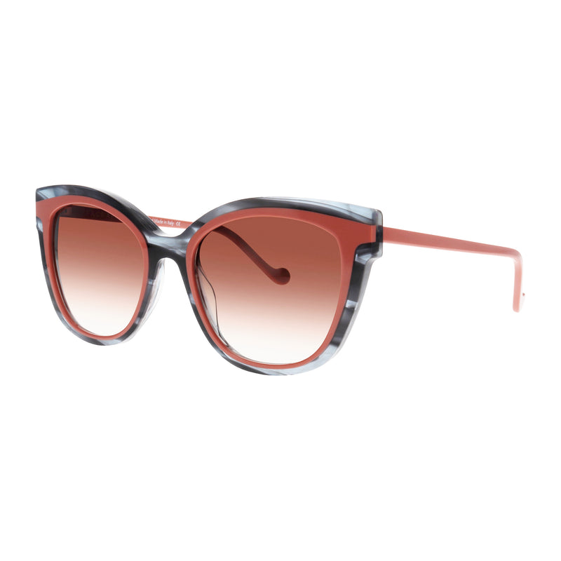 Face A Face - Chill 2 - 4329 - Smoke / Pink / Brown Gradient-Tinted Lenses - Butterfly - Cateye - Sunglasses