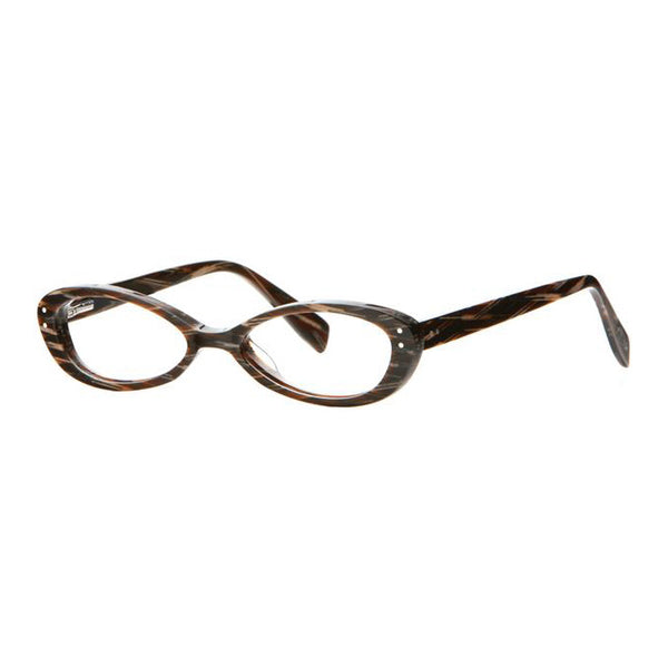 Scojo - Concord St. - Brown / Tan Lattice - Oval - Reading Glasses - Readers