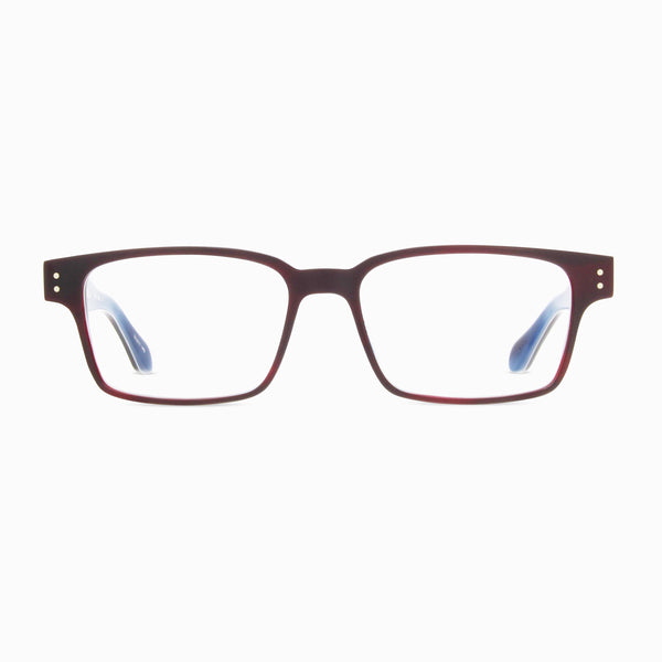 Born In Brooklyn - Cypress Hills - Bark Blue - Rectangle - Eyeglasses - Hicks Brunson Eyewear
