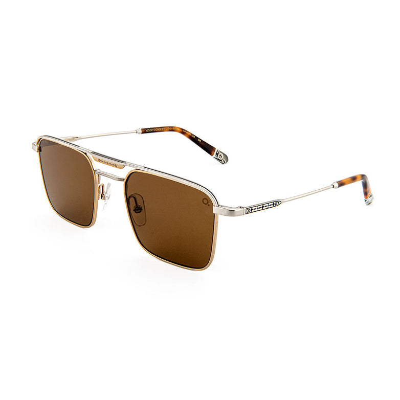 Etnia Barcelona - Montgomery Sun - GDSL - Gold / Silver / Polarized Brown-Tinted Lenses - Navigator - Metal - Sunglasses