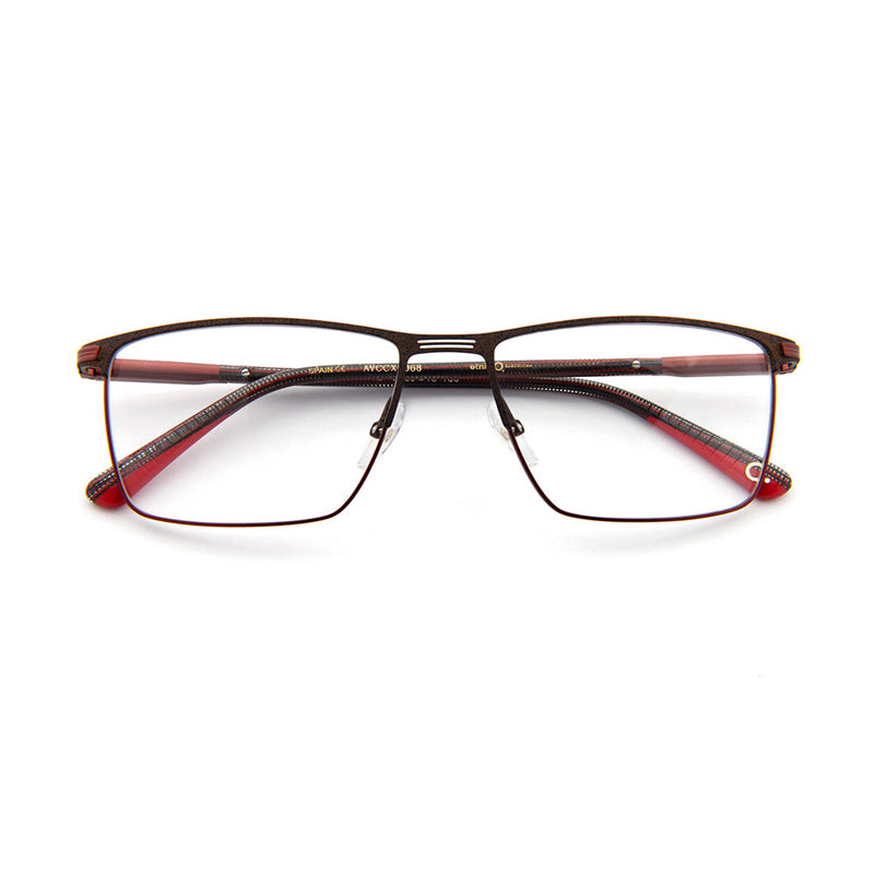Etnia Barcelona - Oliver - BRRD - Brown / Red - Rectangle - Eyeglasses