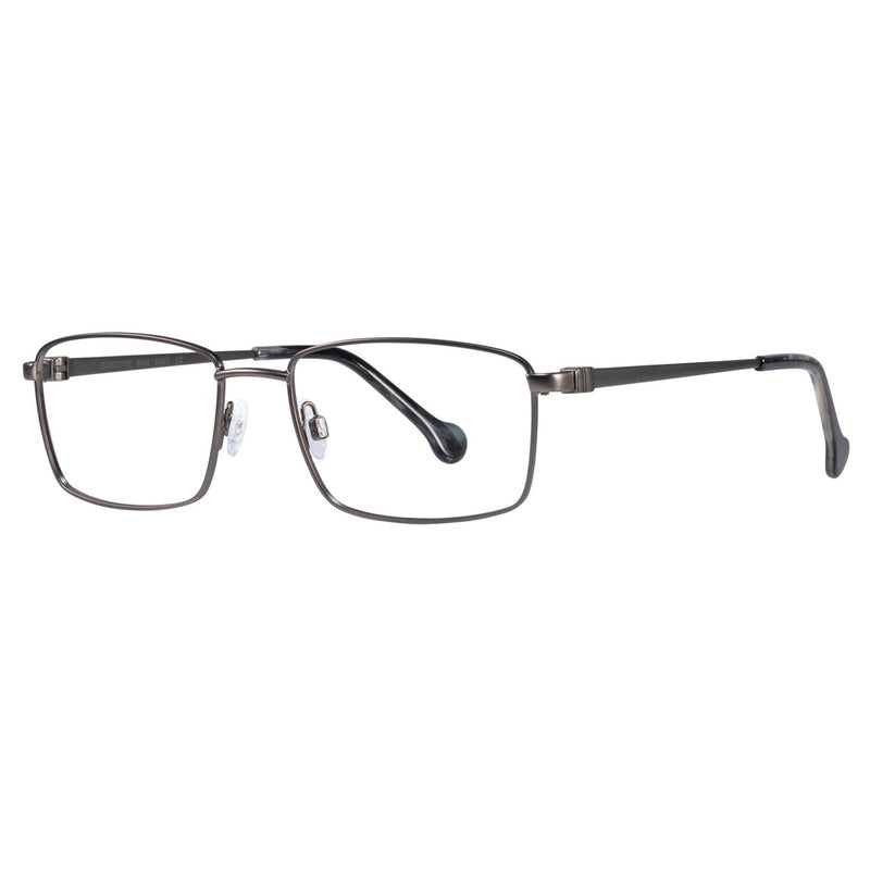 EyeOs - Executive - GNM - Gunmetal - Reading Glasses - Blue Light Lenses