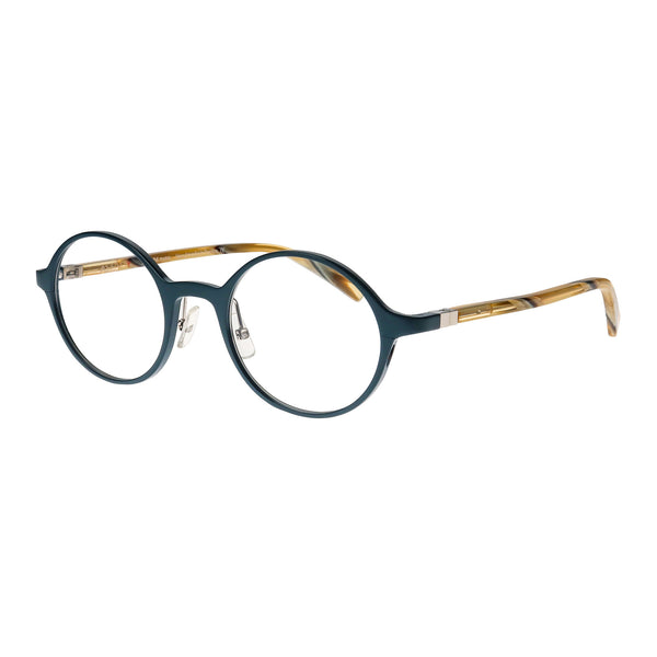 Face A Face - Alium Y 3 - 930M - Navy / Champagne - Round - Aluminum - Eyeglasses