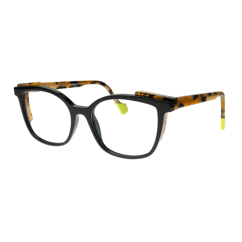 Face A Face - Shift 2 - 100 - Black / Safari - Cateye - Eyeglasses