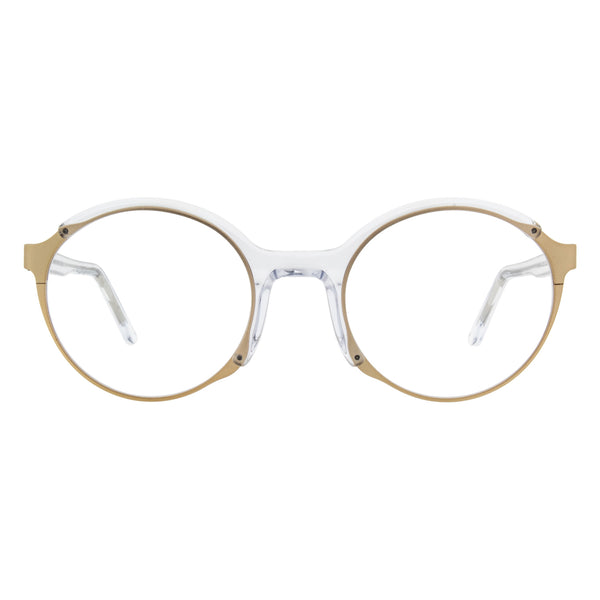 Andy Wolf - Franco - C - Clear/Gold - Round - Eyeglasses