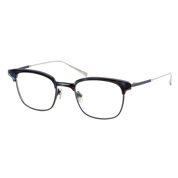 Masunaga - Fuller - #25 - Blue Tort / Dark Silver - Rectangle - Titanium - Eyeglasses