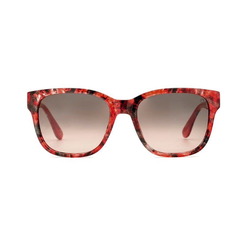 Etnia Barcelona - Getaria - 2RDGY - Red / Photochromic Brown-Gradient Tinted Lenses - Rectangle - Sunglasses - Hicks Brunson Eyewear