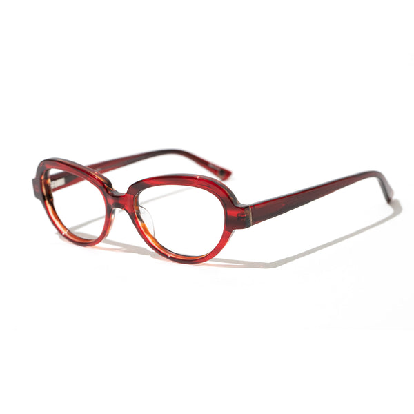 Hicks Brunson Generations - Raleigh - 04 - Ruby - Cateye - Zyl Acetate - Eyeglasses