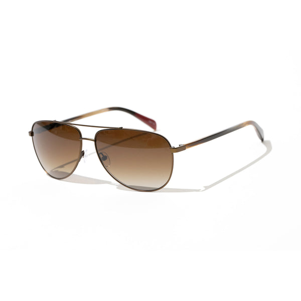 Hicks Brunson Generations - Riccardo - 620 - Bronze / Brown-Gradient Polarized Lenses - Aviator - Sunglasses - Titanium