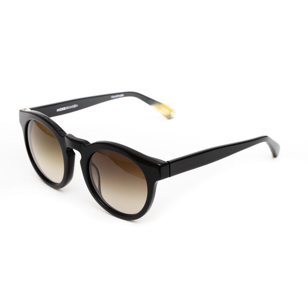 Hicks Brunson Generations - Vasco - 01 - Black / Gradient-Grey Tinted Lenses - Round - P3 - Sunglasses