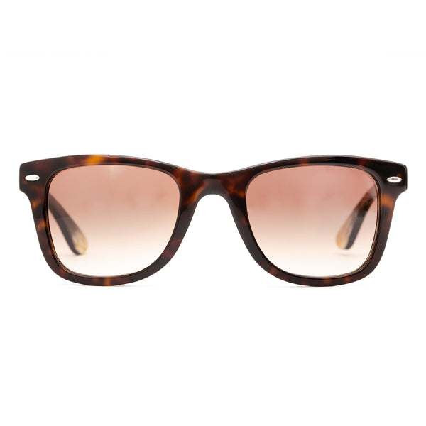 Hicks Brunson Generations - Vinci - 02 - Dark Tortoise / Gradient-Brown Tinted Lenses with Backside AR - Rectangle - Sunglasses
