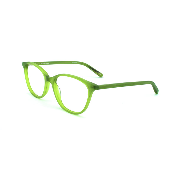 Hicks Brunson - Nina - Matte Green - 524S - Cateye - Eyeglasses - Hicks Brunson Eyewear