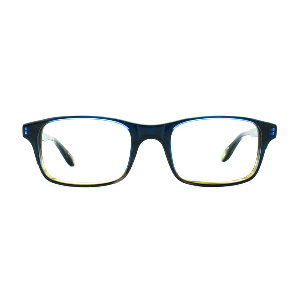 Hicks Brunson - L16 - Blue-Brown Gradient - Ruby Gradient - Rectangle - Eyeglasses - Hicks Brunson Eyewear