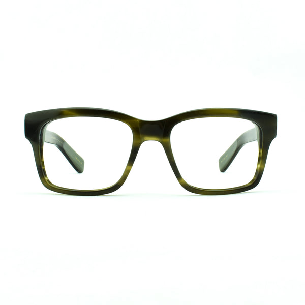 Hicks Brunson - Sixtus - 1082 - Olive - Rectangle - Eyeglasses - Hicks Brunson Eyewear