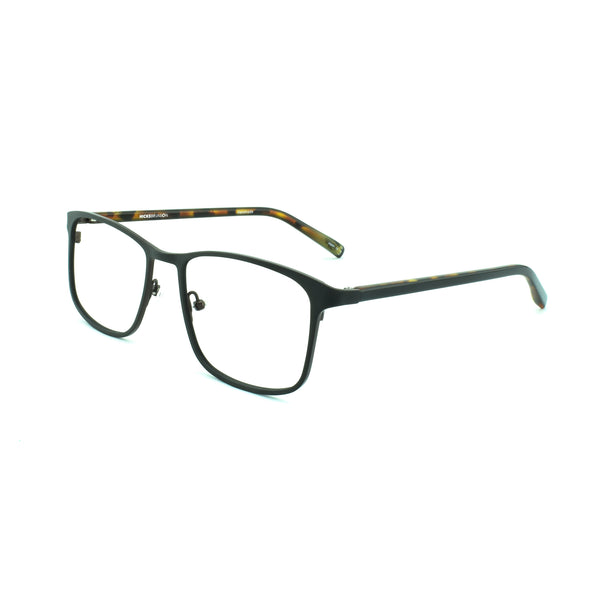 Hicks Brunson - Tizio - Black / Tort - 146 - Rectangle - Titanium - Eyeglasses - Hicks Brunson Eyewear